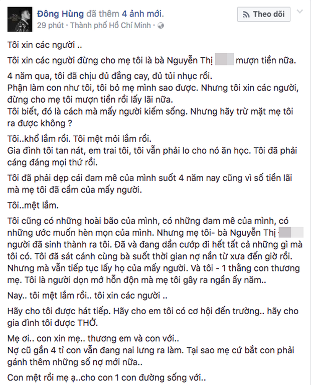 Từng gồng mình gánh nợ 20 tỷ cho mẹ, Đàm Vĩnh Hưng nói gì về việc Đông Hùng bị chém - Ảnh 1.