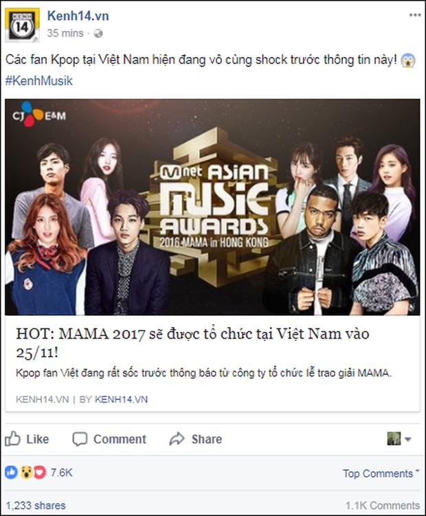 Cộng đồng mạng Việt phát sốt giữa đêm vì tin MAMA 2017 tổ chức ở Việt Nam - Ảnh 1.