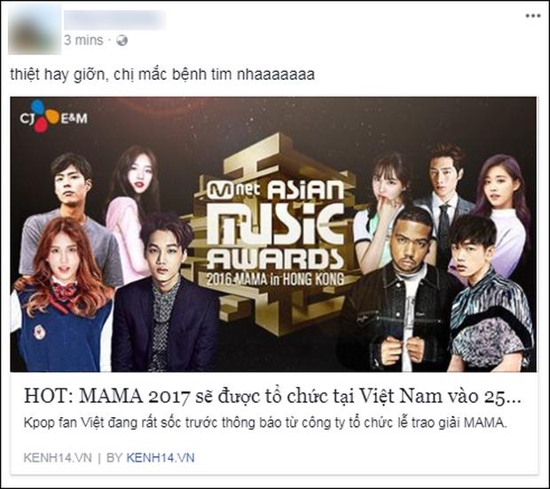 Cộng đồng mạng Việt phát sốt giữa đêm vì tin MAMA 2017 tổ chức ở Việt Nam - Ảnh 9.