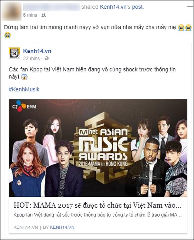 Cộng đồng mạng Việt phát sốt giữa đêm vì tin MAMA 2017 tổ chức ở Việt Nam - Ảnh 14.