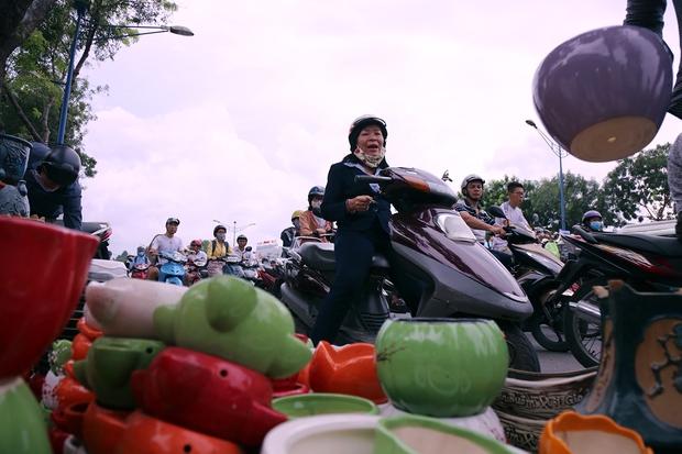Hàng chục gian hàng gần sân bay Tân Sơn Nhất ồ ạt thanh lý chó, gà, cây cảnh, giao thông Sài Gòn hỗn loạn - Ảnh 11.