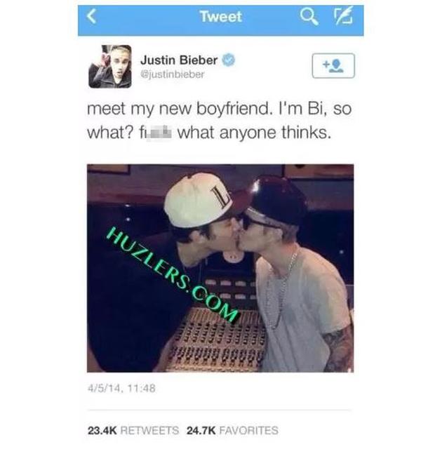 Sự thật về bức ảnh Justin Bieber hôn môi Austin Mahone đắm đuối bỗng gây xôn xao trở lại