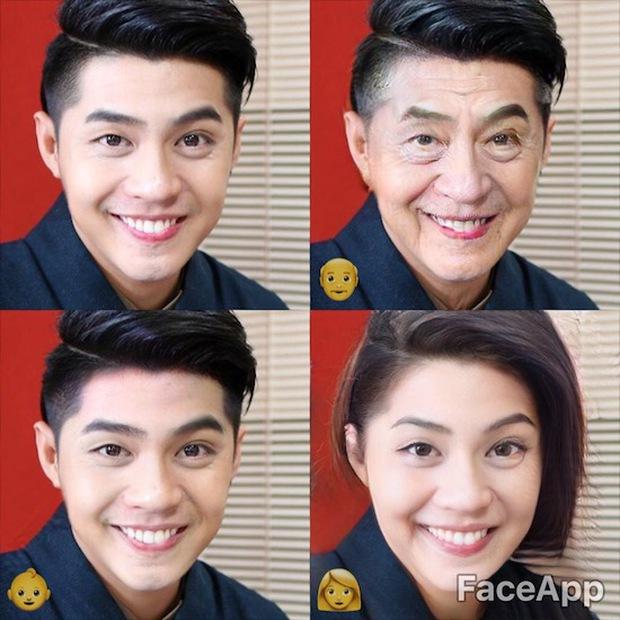 Dùng FaceApp kiểm tra xem sao Việt nào đẹp lão nhất - Ảnh 3.