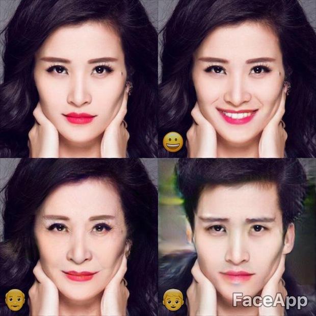 Dùng FaceApp kiểm tra xem sao Việt nào đẹp lão nhất - Ảnh 7.