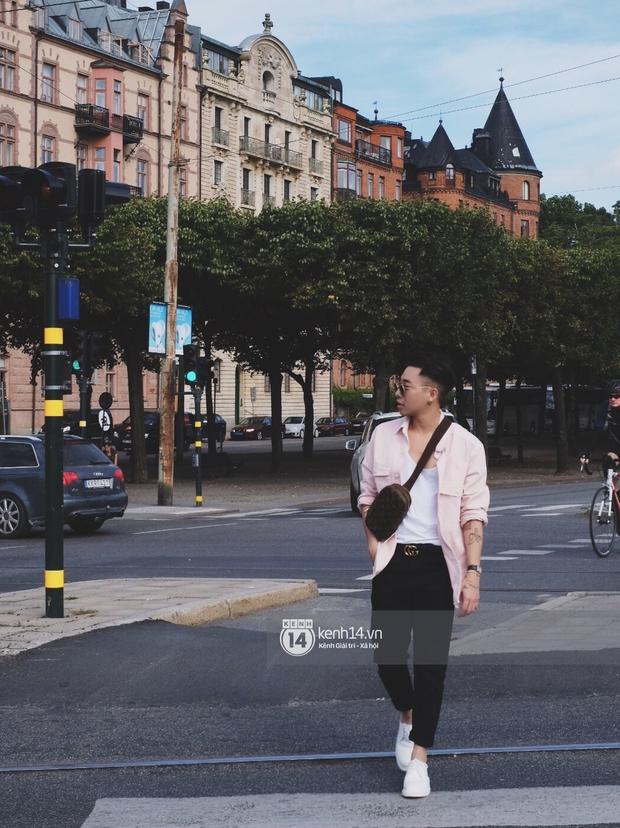 Chi Pu & Hoàng Ku đã đặt chân đến Thụy Điển, khoe street style siêu xinh trước khi thăm thú H&M - Ảnh 9.
