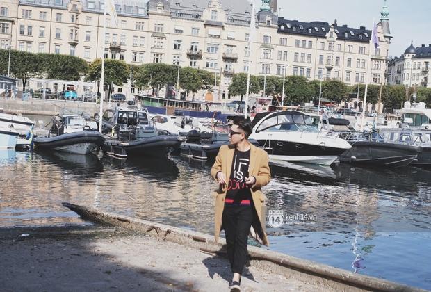 Chi Pu & Hoàng Ku đã đặt chân đến Thụy Điển, khoe street style siêu xinh trước khi thăm thú H&M - Ảnh 11.