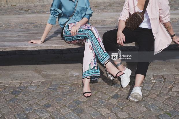 Chi Pu & Hoàng Ku đã đặt chân đến Thụy Điển, khoe street style siêu xinh trước khi thăm thú H&M - Ảnh 7.