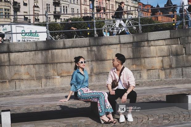 Chi Pu & Hoàng Ku đã đặt chân đến Thụy Điển, khoe street style siêu xinh trước khi thăm thú H&M - Ảnh 5.