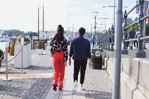 Chi Pu & Hoàng Ku đã đặt chân đến Thụy Điển, khoe street style siêu xinh trước khi thăm thú H&M - Ảnh 4.