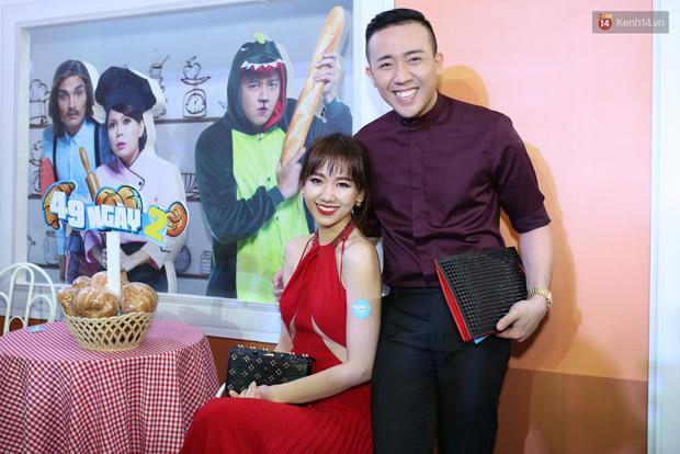Bị nghi có bầu vì bụng bự, Hari Won quyết tâm giảm cân và diện đầm khoe chân ngực gợi cảm - Ảnh 3.