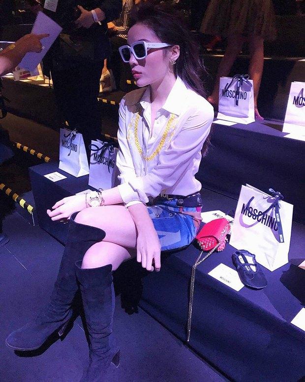 Tới Milan Fashion Week, Kỳ Duyên đầu tư kỹ lưỡng và xuất hiện ngay trên hàng ghế đầu show Moschino - Ảnh 7.