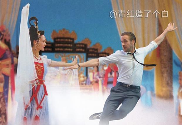 Cười vỡ bụng với điệu nhảy đôi lãng mạn trong La La Land dưới bàn tay các thánh Photoshop - Ảnh 4.