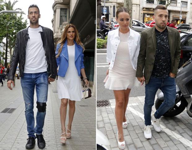 Messi sơ mi đóng thùng đến khai trương shop giày của Antonella và vợ Suarez - Ảnh 9.