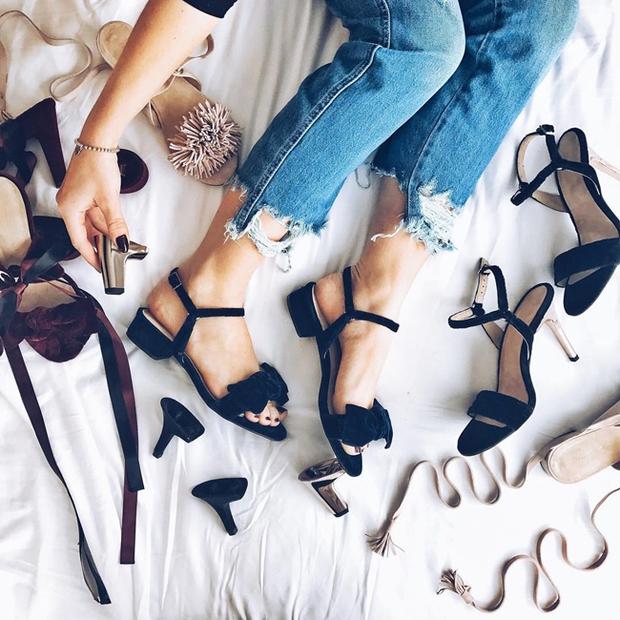 Các cô gái sẽ thèm thuồng muốn có đôi giày thay gót vi diệu bấm một cái là ra kiểu khác - Ảnh 5.