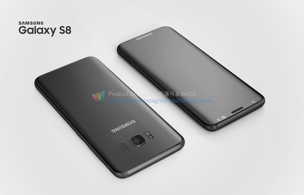 Chiêm ngưỡng ảnh render mới nhất của Galaxy S8 để thấy siêu phẩm này đẹp đến nhường nào - Ảnh 1.