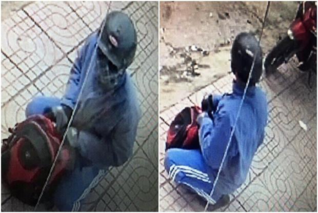 Hình ảnh đối tượng cướp ngân hàng HD Bank do camera ghi lại - Ảnh 1.