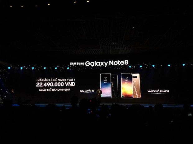 Trên tay Samsung Galaxy Note8 vừa ra mắt tại Việt Nam: Thiết kế rất ấn tượng, giá 22,5 triệu đồng! - Ảnh 1.