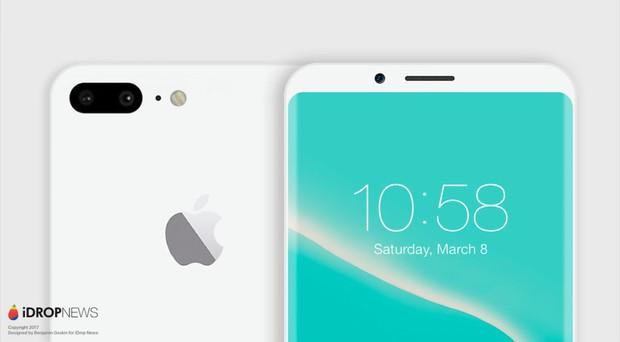 Mãn nhãn với vẻ đẹp tinh tế của iPhone 8 có màn hình cong tràn cạnh - Ảnh 3.