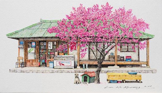 Có một Hàn Quốc đẹp không thốt nên lời qua tranh vẽ suốt 20 năm của người họa sĩ tài năng - Ảnh 1.