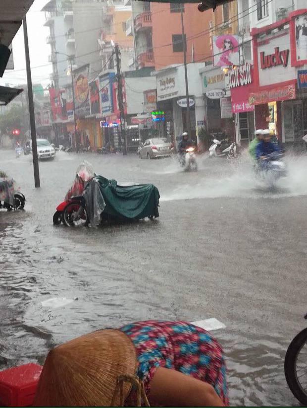 Clip: Người dân đổ xô ra đoạn đường ngập để bắt cá giữa tâm bão số 4 - Ảnh 8.