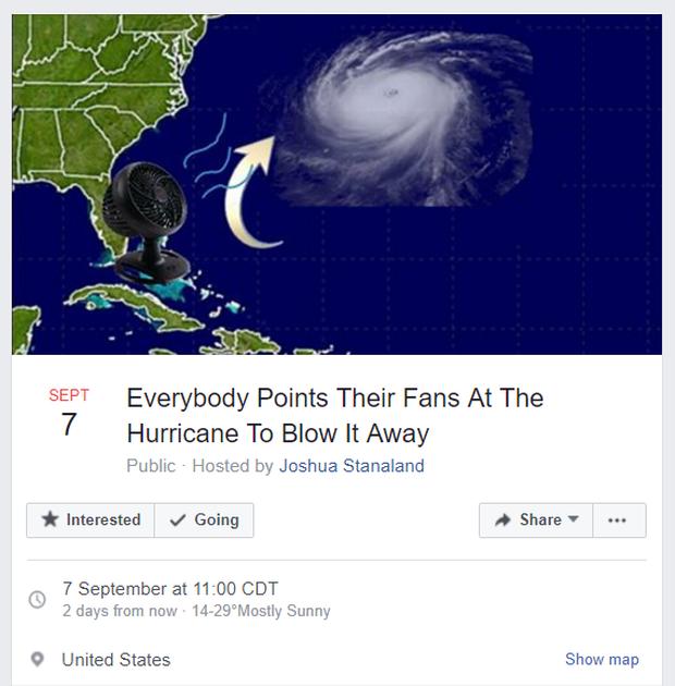 Mỹ: kêu gọi toàn dân bật quạt thổi bão bay đi chỗ khác - Ảnh 1.