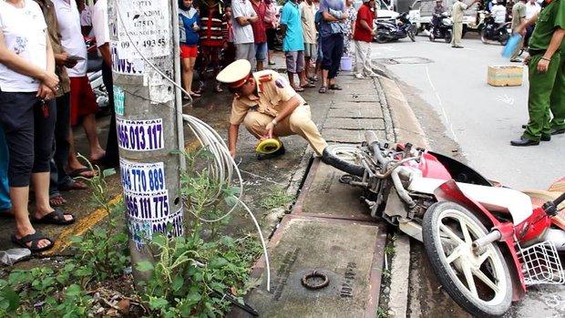 TP. HCM: Cô gái trẻ tử vong thương tâm dưới bánh xe tải - Ảnh 1.