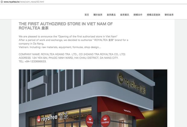 Công ty Royal Tea thông báo cửa hàng trà sữa đầu tiên được nhượng quyền chính thức ở Việt Nam đặt tại Đà Nẵng - Ảnh 1.