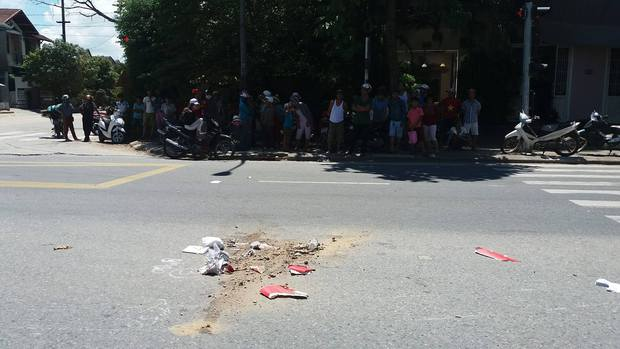 Hiện trường nơi xảy ra vụ tai nạn