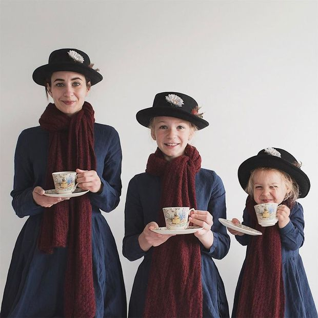 Nhà có 3 nàng tiên: Từ mẹ tới con đều xinh hết nấc và mặc đồ cực chất - Ảnh 1.