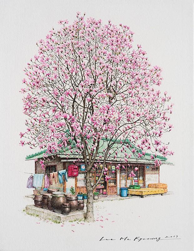 Có một Hàn Quốc đẹp không thốt nên lời qua tranh vẽ suốt 20 năm của người họa sĩ tài năng - Ảnh 9.