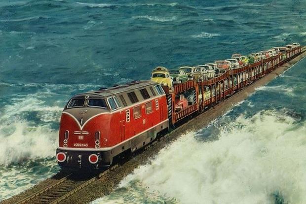Cận cảnh tàu hỏa chạy xuyên biển - công trình vĩ đại của người Đức giống hệt như One Piece - Ảnh 5.
