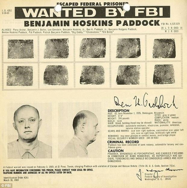 Cha của nghi phạm nằm trong danh sách 10 tội phạm bị truy nã gắt gao nhất của FBI. Ảnh: FBI