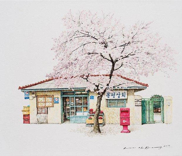 Có một Hàn Quốc đẹp không thốt nên lời qua tranh vẽ suốt 20 năm của người họa sĩ tài năng - Ảnh 12.