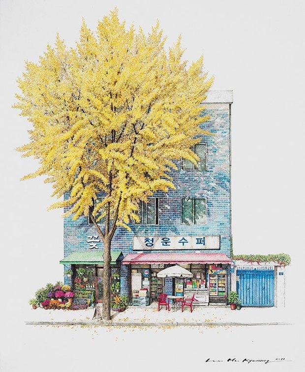 Có một Hàn Quốc đẹp không thốt nên lời qua tranh vẽ suốt 20 năm của người họa sĩ tài năng - Ảnh 3.