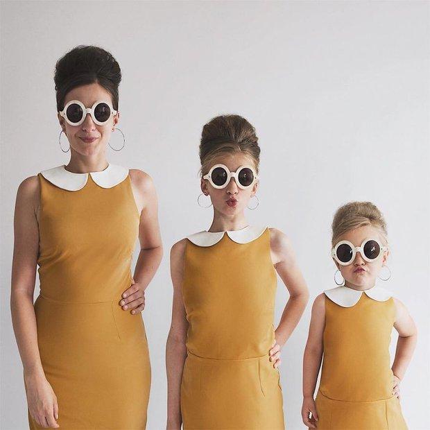 Nhà có 3 nàng tiên: Từ mẹ tới con đều xinh hết nấc và mặc đồ cực chất - Ảnh 3.