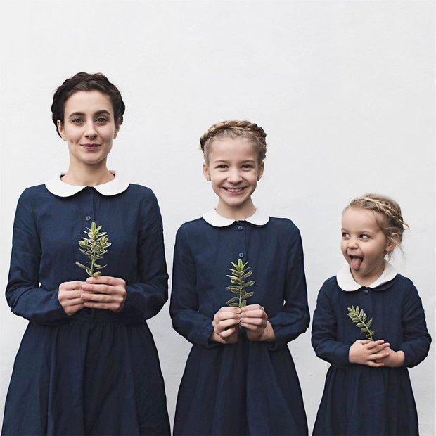 Nhà có 3 nàng tiên: Từ mẹ tới con đều xinh hết nấc và mặc đồ cực chất - Ảnh 4.