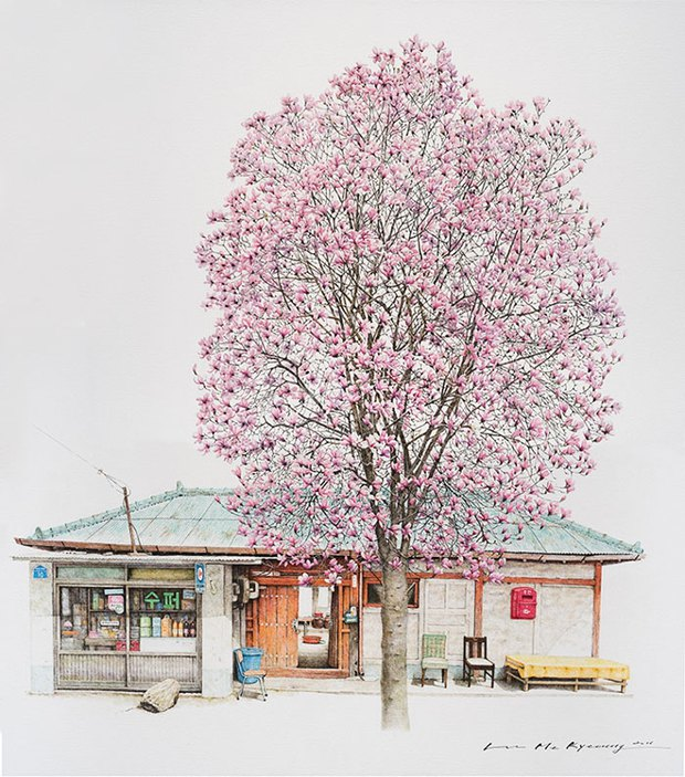 Có một Hàn Quốc đẹp không thốt nên lời qua tranh vẽ suốt 20 năm của người họa sĩ tài năng - Ảnh 5.
