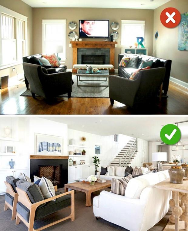 15 lỗi bố trí nội thất phòng khách mà gia đình nào cũng thường mắc phải - Ảnh 23.