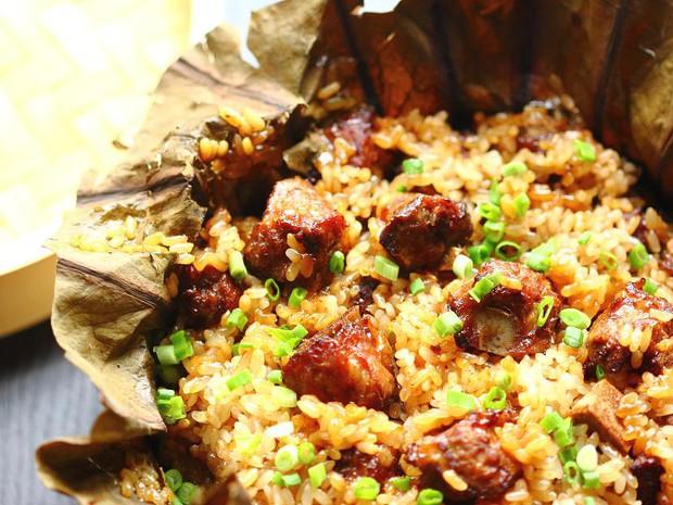 Món ăn hai trong một cho bữa cơm nhanh gọn: Cơm sườn nấm - Ảnh 8.