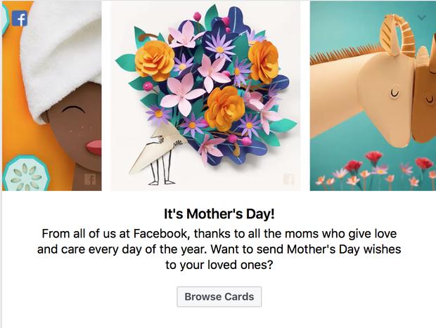Facebook vừa cho gửi thiệp và thả triệu hoa trong Ngày Của Mẹ, bạn đã làm chưa? - Ảnh 1.