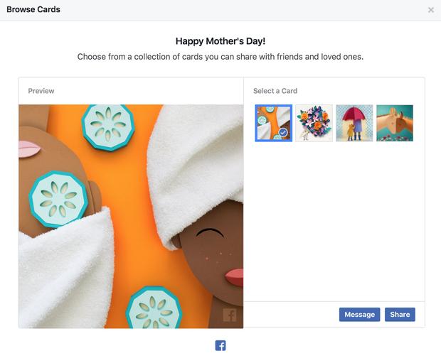 Facebook vừa cho gửi thiệp và thả triệu hoa trong Ngày Của Mẹ, bạn đã làm chưa? - Ảnh 2.