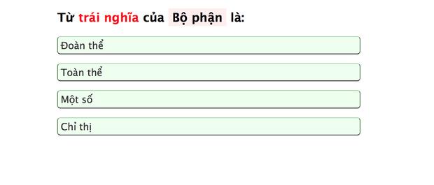 Dân mạng đang nháo nhào kiểm tra vốn từ vựng Tiếng Việt, còn bạn đã làm chưa? - Ảnh 4.