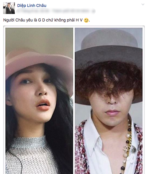 Tự nhận yêu G-Dragon chứ không phải Hữu Vi, Diệp Linh Châu bị ném đá dữ dội - Ảnh 1.