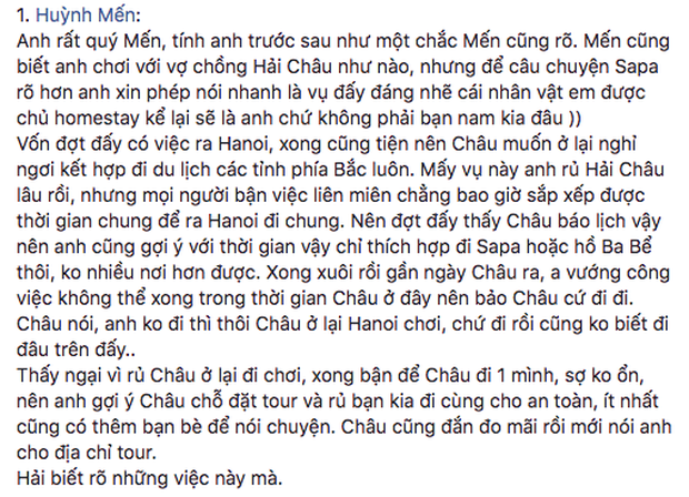 Bạn Lý Phương Châu khẳng định Lâm Vinh Hải biết vợ cũ đi Sapa với Hiền Sến trước khi ly hôn - Ảnh 3.