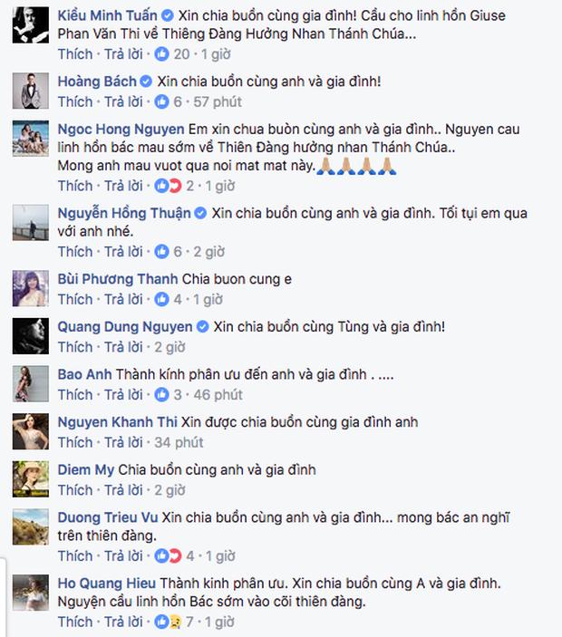 Bảo Anh - Hồ Quang Hiếu và loạt sao Việt chia buồn khi bố Phan Đinh Tùng qua đời - Ảnh 3.