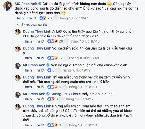 Trước thái độ gay gắt Dương Thùy Linh dành cho Mai Ngô, Phan Anh lên tiếng bảo vệ thí sinh - Ảnh 2.