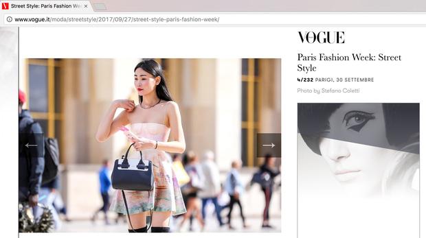 Diện trang phục của NTK Việt, street style của Thùy Trang vẫn lên thẳng Vogue Ý - Ảnh 1.