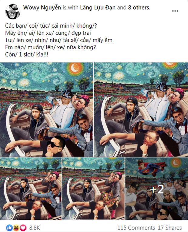 Bị nói lạc đề ở Rap Việt, Dế Choắt tự tạo luôn trend mới, HLV Wowy liền ủng hộ nhiệt tình - Ảnh 7.