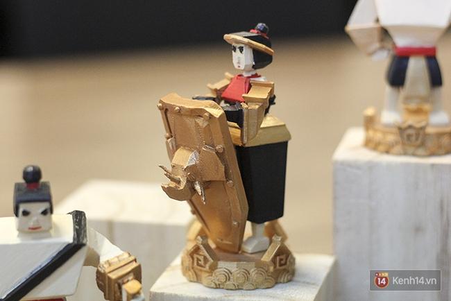 Cận cảnh bàn cờ vua in 3D độc nhất Việt Nam với tạo hình Thánh Gióng, Yết Kiêu, Âu Cơ... - Ảnh 7.