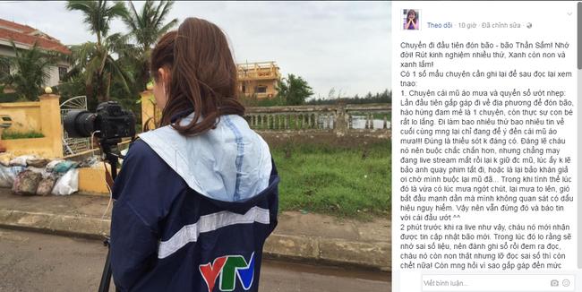 Nữ MC của VTV bỗng dưng bị ném đá khi... để đầu trần, dầm mưa truyền hình trực tiếp về cơn bão số 3 - Ảnh 5.